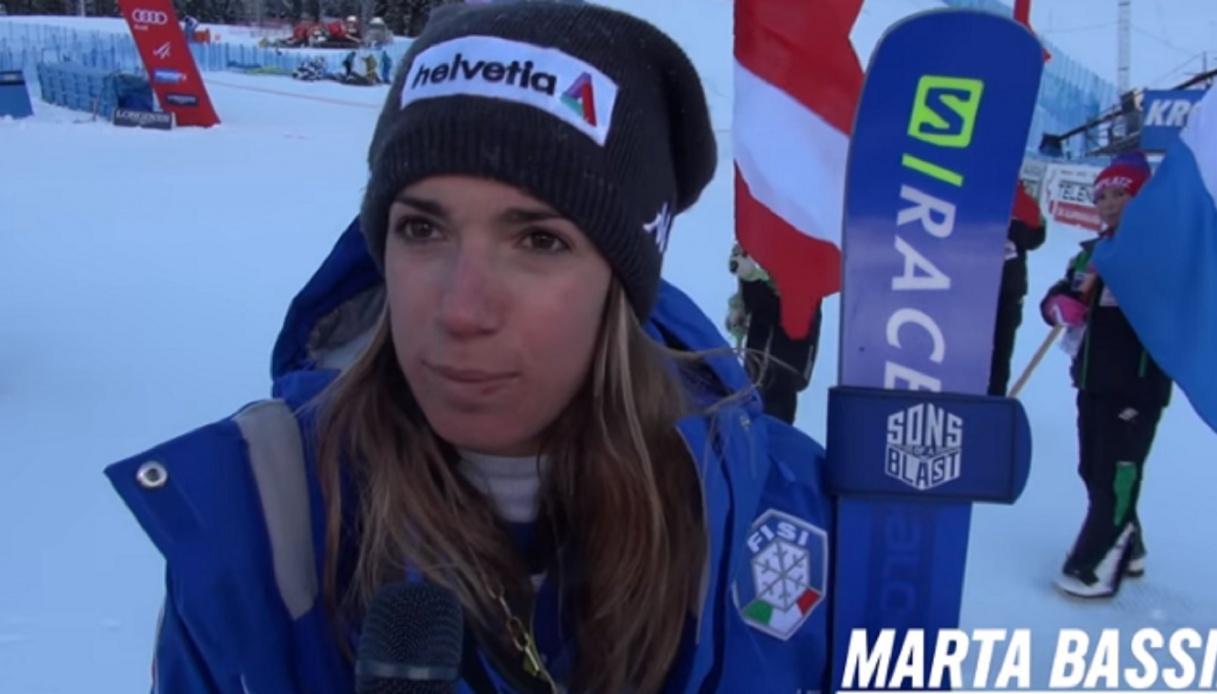La gioia di Marta Bassino dopo il trionfo in Francia