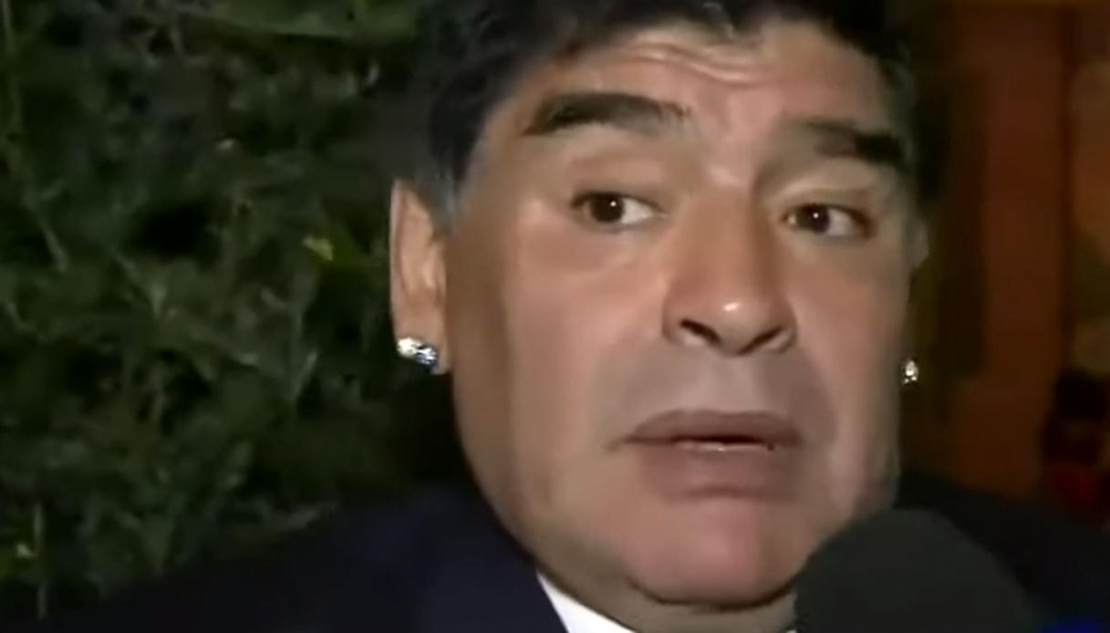 Sampdoria a Napoli: il toccante omaggio a Maradona