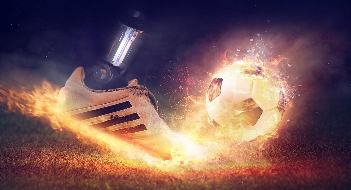 Scarpe indossate calciatori