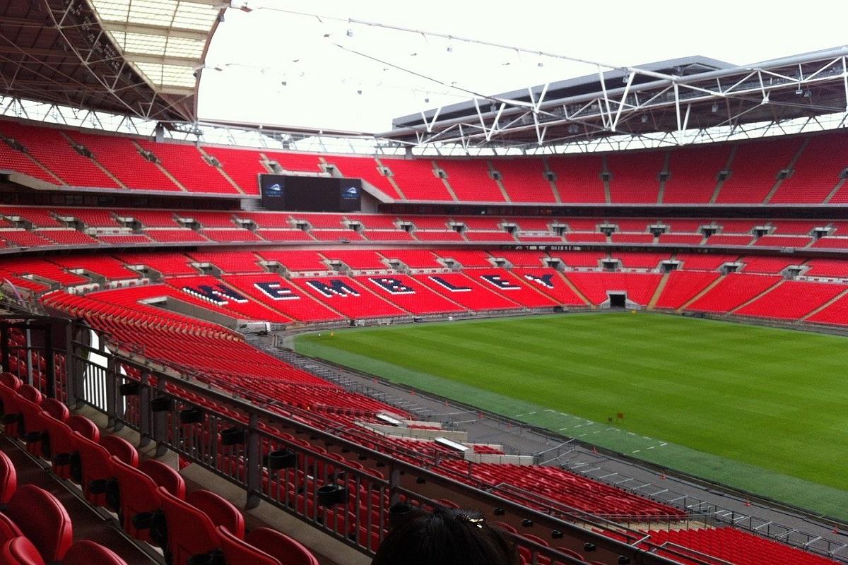 Wembley Stadium al suo interno