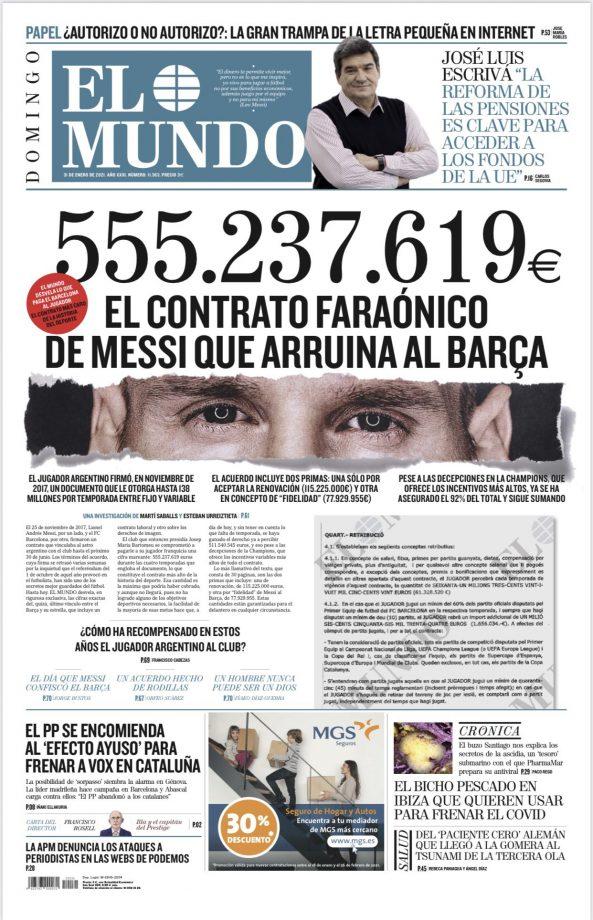 El Mundo Messi contratto