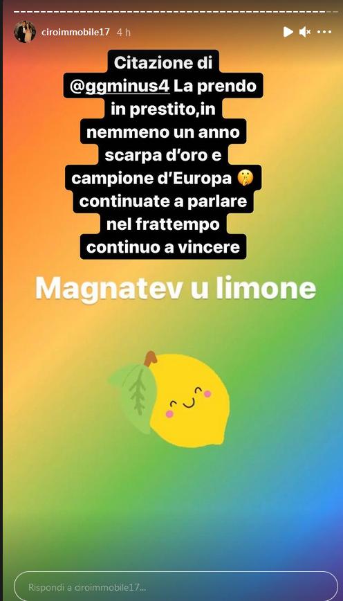Immobile storia Instagram