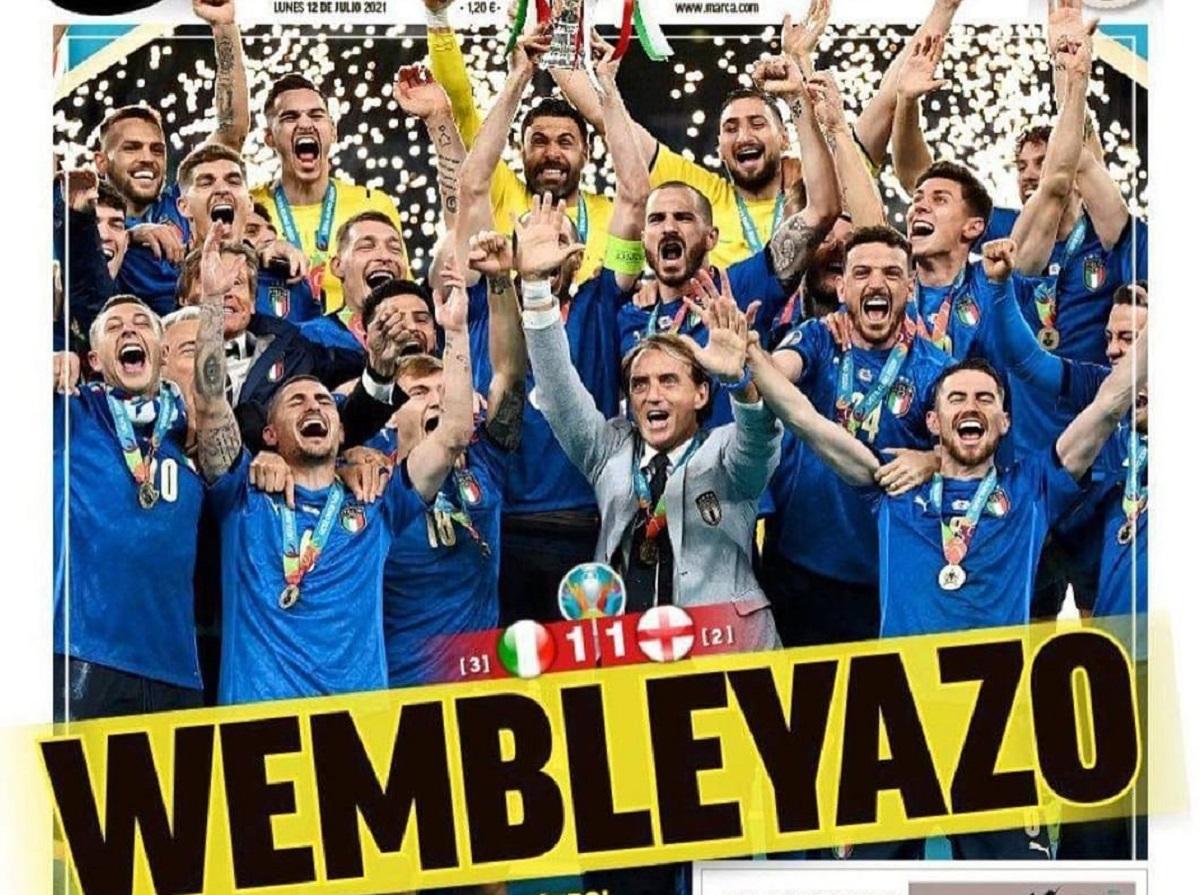 italia campione d'europa prime pagine giornali