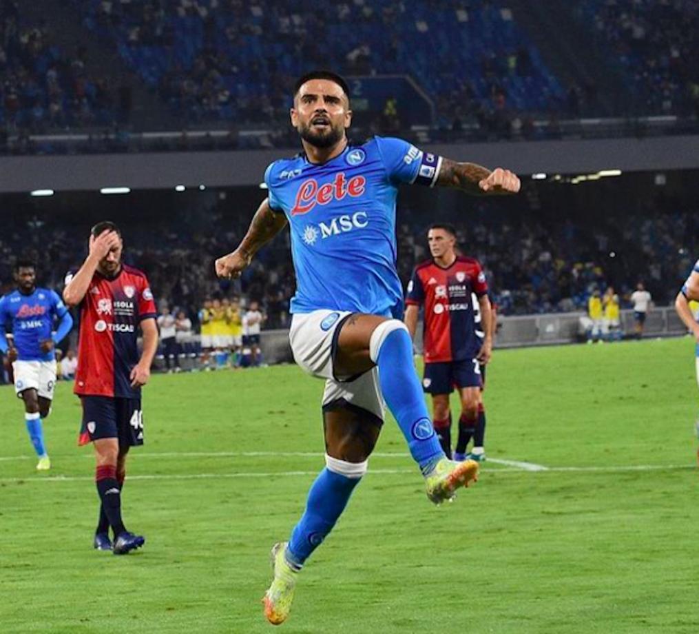 Lorenzo Insigne esulta dopo un gol