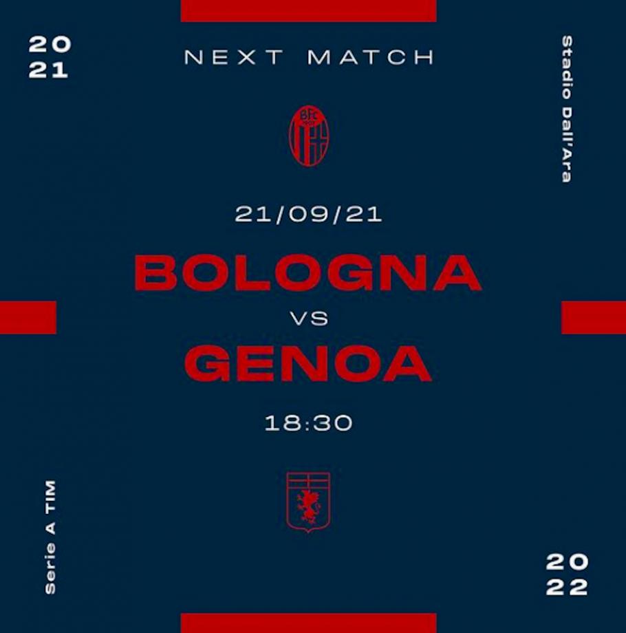 Locandina di Bologna-Genoa